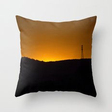 Sunset over the hills Throw Pillow