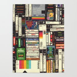 Cassettes, VHS & Games Poster