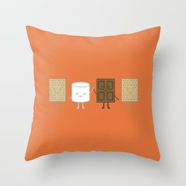 Life is S'more Fun Together Throw Pillow