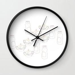 Honey bear and sugar bowl Wall Clock