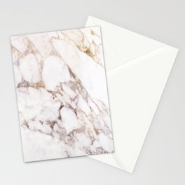 Onyx White Marble Stationery Cards
