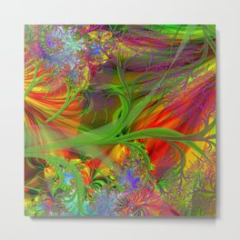 A Field 0f Wild Flowers Abstract Metal Print