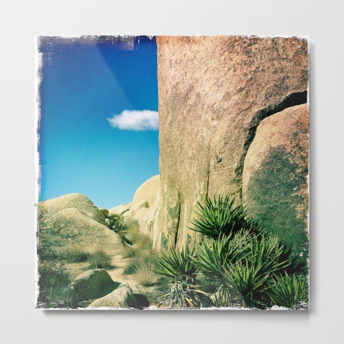 Joshua Tree Series: Rock Wall Metal Print