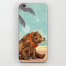 Beach Bear iPhone Skin