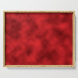 Bold Red Foil Smooth Metal Texture Festive / Christmas Serving Tray