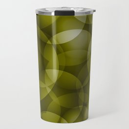 Dark intersecting translucent olive circles in bright colors with an oily glow. Travel Mug