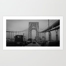 George Washington Bridge Traffic Art Print