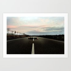 On the Road.... Art Print