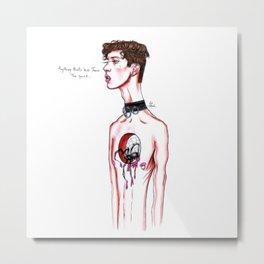 Troye Sivan // The Quiet Metal Print