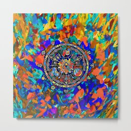 TRIFORCE ABSTRACT Metal Print
