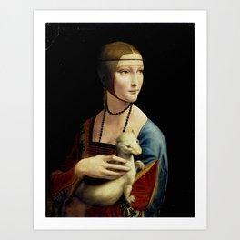 """Leonardo Da Vinci """"Portrait of Cecilia Gallerani (Lady with the Ermine)"""" Art Print"""