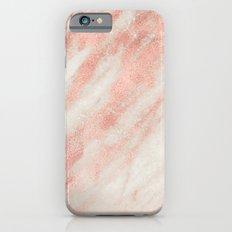 Desert Rose Gold Pink Marble Slim Case iPhone 6s
