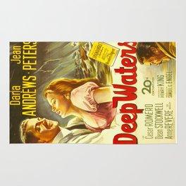 Deep Waters, vintage movie poster Rug