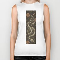 snake Biker Tanks featuring Snake Skeleton by Jessica Roux