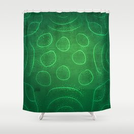 Chladni Pattern - Green by Spencer Gee Shower Curtain