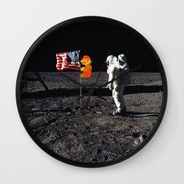 Super Mario on the Moon Wall Clock