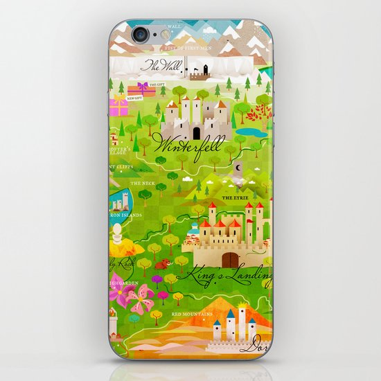 A Map of Ice and Fire iPhone & iPod Skin