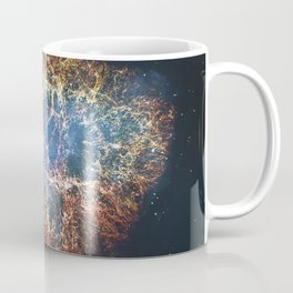 Crab Nebula in constellation Taurus. Supernova Core pulsar neutron star. Coffee Mug
