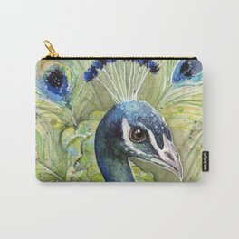 Peacock Watercolor Painting | Exotic Birds Carry-All Pouch