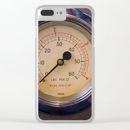 control - vintage industrial dials and gauges Clear iPhone Case