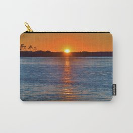 Frozen Bay Sunset Carry-All Pouch