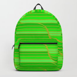 Geo Stripes - Green Backpack
