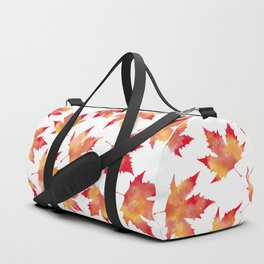 Maple leaves white Duffle Bag
