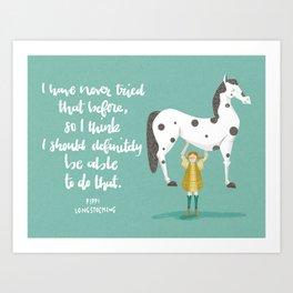 Motivational Pippi Art Print