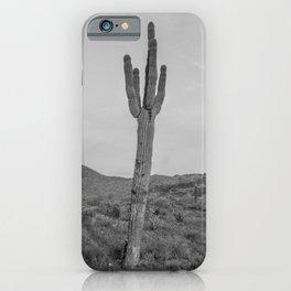 Saguaro B&W // Desert Landscape Photography Arizona Cactus Black and White Vintage Southwestern Vibe iPhone Case