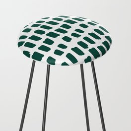 Green Abstract Paint Splotches Counter Stool