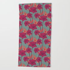 Vintage Blossoms Beach Towel
