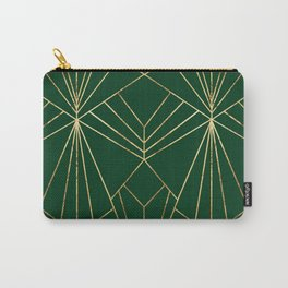 Art Deco in Gold & Green - Large Scale Carry-All Pouch