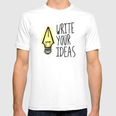 Write Your Ideas White SMALL Mens Fitted Tee
