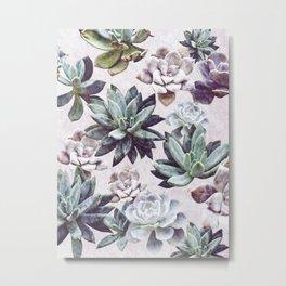 Succulents design Metal Print