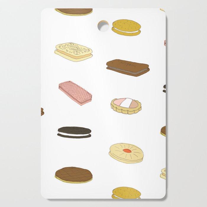 biscui - biscuit pattern Cutting Board