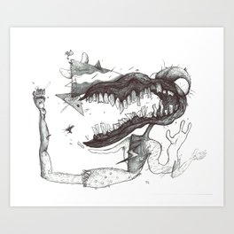 Rotten Mouth Art Print