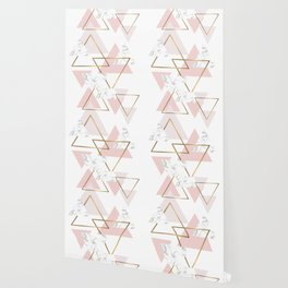 Pink ang Marble Triangle Wallpaper