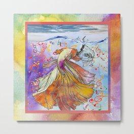 Baile en el mar peces Metal Print