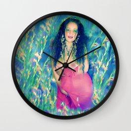 Nude field of dreams goddess ladykashmir Wall Clock