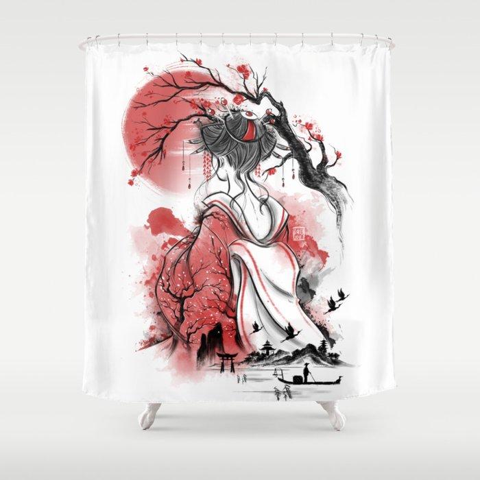 Geisha Dream Shower Curtain