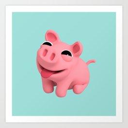 Rosa the Pig Happy Art Print