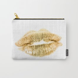 E 21 Gold Lips Carry-All Pouch