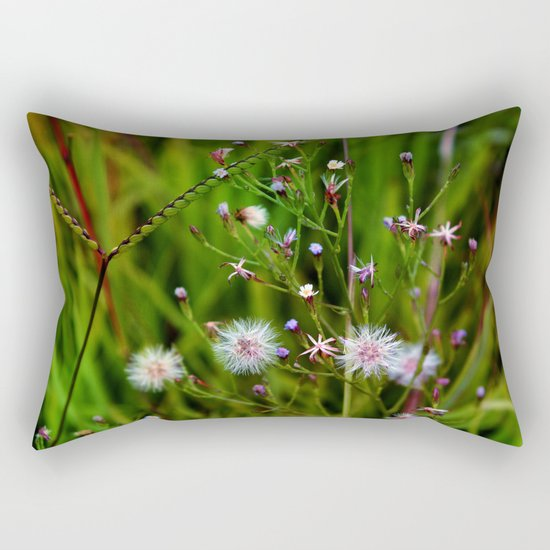 I'd rather be a weed than smell of roses cultured seed Rectangular Pillow