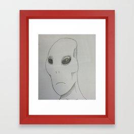 Alien Sketch Framed Art Print