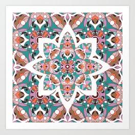 Flower with pattern Art Print