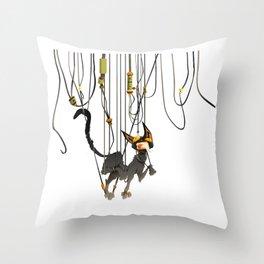 "Lili B. ""Entangled cat"" Throw Pillow"