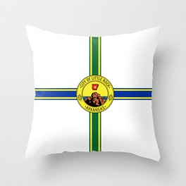 flag of little rock,arkansas Throw Pillow