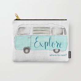 Retro Vintage Explore Bus Van Carry-All Pouch