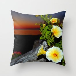 Spring Flowers at Dusk Throw Pillow