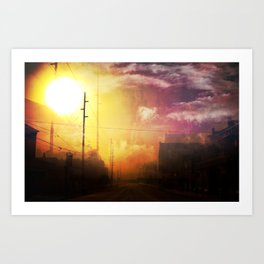 The West End Of Town Art Print